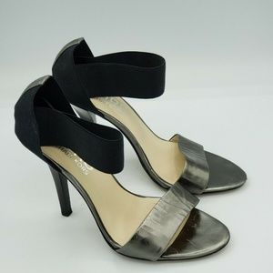 Michael KORS High Heel Metallic Black Stretch Band